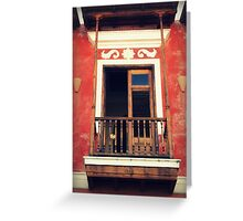 Patio on San Justo Greeting Card