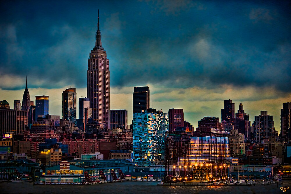 Midtown Manhattan Sunset by Chris Lord