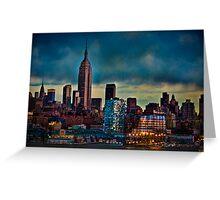 Midtown Manhattan Sunset Greeting Card