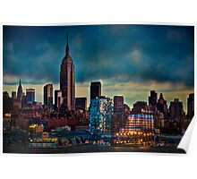 Midtown Manhattan Sunset Poster
