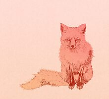 Peach Fox by Olivia Sementsova