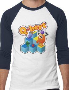 Q*Bert Logo Men's Baseball ¾ T-Shirt