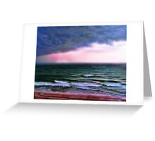 Storm on the beach Greeting Card