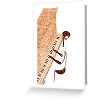 Piano jazz Greeting Card