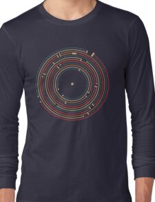 Vinyl music metro record map labyrinth  Long Sleeve T-Shirt
