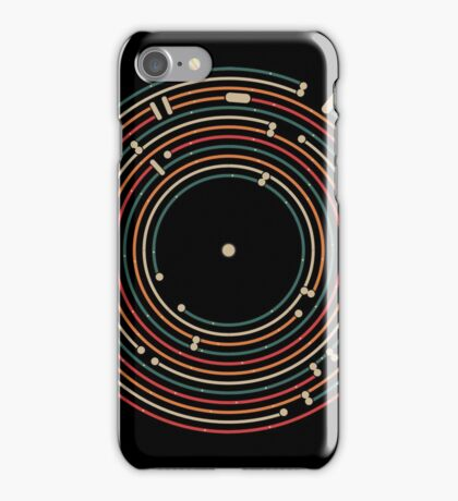 Vinyl music metro record map labyrinth  iPhone Case/Skin