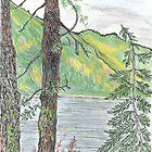 Adams Lake Autumn by Lynda Earley