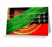 Guitar with Gladiola Leaf Greeting Card