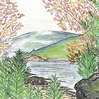 Adams Lake: View from Bennet's Point by Lynda Earley