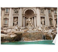 Oceanus and Titons Statues,Trevi Fountain in Rome Poster