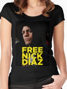 FREE NICK DIAZ - Nevada State Athletic Commission (NSAC) ban Nick Diaz for 5 years! Women's Fitted Scoop T-Shirt