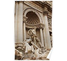 Oceanus with Trition Calming Horse Statues, Trevi Fountain Poster
