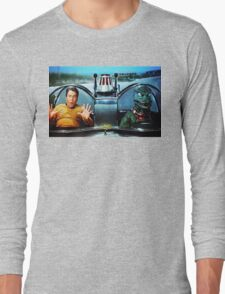KIRK AND GORN BATMOBILE Oil Painting On Canvas Long Sleeve T-Shirt