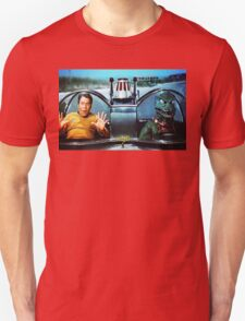 KIRK AND GORN BATMOBILE Oil Painting On Canvas Unisex T-Shirt
