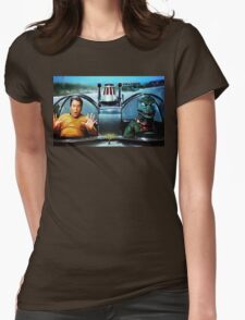 KIRK AND GORN BATMOBILE Oil Painting On Canvas Womens Fitted T-Shirt