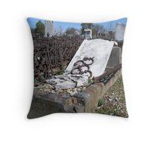 Gravestones 2 Throw Pillow