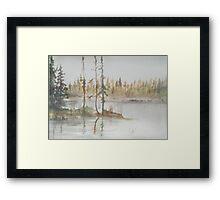 GRANDEUR - Sacred lake spirit Framed Print