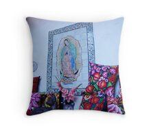 Oaxaca, Virgen & Pillows Throw Pillow
