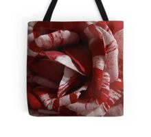 Striped Roses Tote Bag