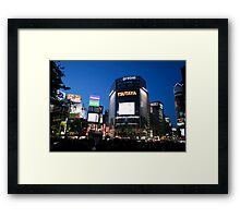 Shibya busy center in night time Framed Print
