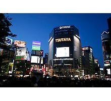 Shibya busy center in night time Photographic Print