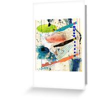 woman in space - portrait of T.W. Greeting Card