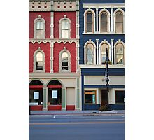 Red and blue historic buildings Photographic Print