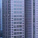 multi story buildings in Tokyo city by snehit