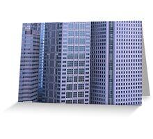 multi story buildings in Tokyo city Greeting Card