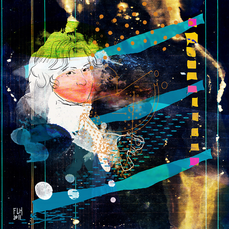 woman in space V2 - portrait of T.W. by frederic levy-hadida