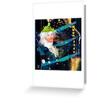 woman in space V2 - portrait of T.W. Greeting Card