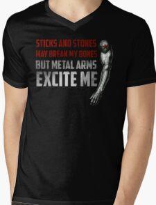 Sticks and Stones Mens V-Neck T-Shirt