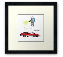 Pseudo Car Science Framed Print