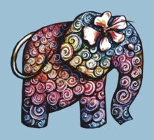 Tattoo Elephant TShirt Kids Tee