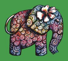 Tattoo Elephant TShirt One Piece - Short Sleeve