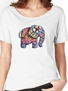Tattoo Elephant TShirt Women's Relaxed Fit T-Shirt