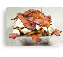 poutine with bacon Canvas Print