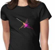 Nazca Lines Hummingbird Womens Fitted T-Shirt