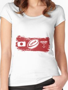 Japan World Cup Rugby Women's Fitted Scoop T-Shirt
