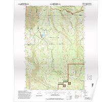 USGS Topo Map Oregon Jubilee Lake 280353 1995 24000 Poster