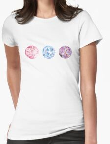 Floral Triad Womens Fitted T-Shirt
