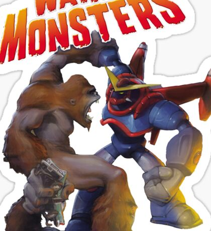 War of the Monsters Cover Art Sticker