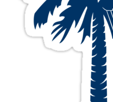 Blue Carolina Girl Palmetto Moon Sticker