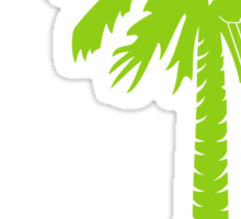 Lime Green Carolina Girl Palmetto Moon Sticker