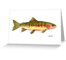 Study of a Greenback Cutthroat Trout Greeting Card