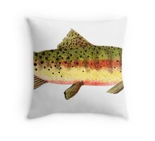 Study of a Greenback Cutthroat Trout Throw Pillow