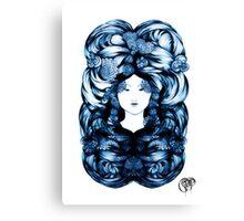Asian Girls-Soon Cho- Sapphire Canvas Print