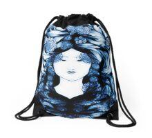 Asian Girls-Soon Cho- Sapphire Drawstring Bag