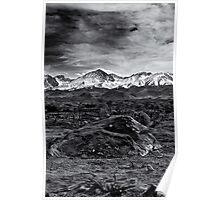 Rock,Snow and lichens Poster