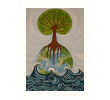 The Ocean is the Beginning of the Earth Art Print